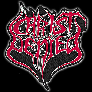 CHRIST DENIED - Logo (red)